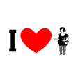 I love prostitutes Symbol of heart and Hooker vector image