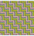 Seamless Fun Abstract Pattern Isolated on Brown vector image