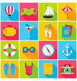 summer colorful icons vector image