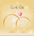 wedding background with rings and gemstone bokeh vector image