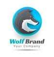 a wolf logo Creative vector image