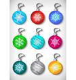 Christmas ball collection vector image