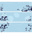set of banners with abstract flowers vector image vector image