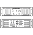 outline speaker amplifier device vector image vector image