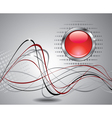 abstract background with red button vector image vector image