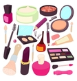 Cosmetic icons set cartoon style vector image