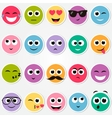 colorful smiley faces stickers set vector image vector image
