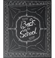 Back to school chalk lettering on black background vector image