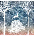 christmas deer with label vector image