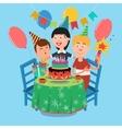Family Birthday Party Happy Family Celebrating vector image