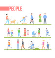 people - set of cartoon flat design style vector image