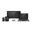 Responsive web design devices on a white vector image
