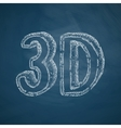 three d icon vector image