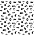 wrapping paper - transport icons wallpaper 10eps vector image vector image