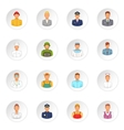 Professions icons set cartoon style vector image