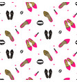 chic girl fashion seamless pattern vector image