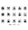 Halloween button icons set vector image vector image