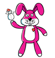 Bunny puppet vector image