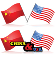 China and the USA vector image