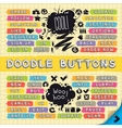 Hand Drawn Sketchy Doodle Buttons Set vector image