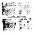 Set of 4 artistic mascara textures vector image