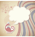 cute dragon and speech bubble vector image