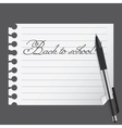 abstract list blanc with pen vector image vector image