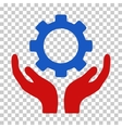 Gear Maintenance Hands Icon vector image