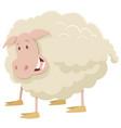 farm sheep animal character vector image vector image