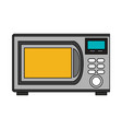 color image cartoon microwave oven element kitchen vector image