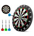 Dart and dartboard vector image