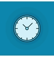 Flat clock icon vector image vector image