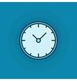 Flat clock icon vector image