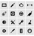 black car parts icon set vector image