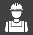 builder glyph icon build and repair construction vector image
