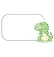 cartoon dragon with copy space vector image