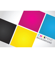 cmyk spiral boxes vector image