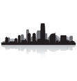 Jersey city USA skyline silhouette vector image