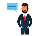 male attorney cartoon flat vector image