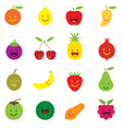 Mixed Fruits Character Cartoon vector image