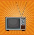 old tv pop art cartoon vector image