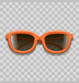 realistic 3d red sunglasses black lenses on a vector image