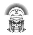 skull in rome empire centurion helmet vector image