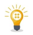 bulb idea gear creativity design vector image