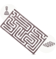 Pawn Maze vector image vector image