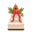 sweet cake love celebration vector image