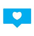 like sign like icon on white background flat vector image