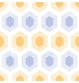 Abstract purple yellow honeycomb fabric textured vector image vector image