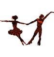 Ballroom couple vector image