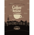coffee houses of the old town vector image vector image